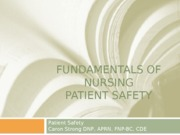 Fundamentals of Nursing safety lecture 1