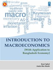 Introduction to Macroeconomics with Applications ot Bangladesh