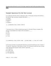 Sample Questions For the first Lecture - with quant answers.docx