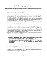 CMPT 404 Exercise on Probability
