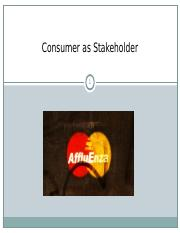 Consumer as Stakeholder.ppt
