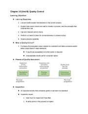 Operations Management Chapter 10 Filled Notes