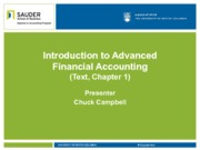 0. Introduction to Advanced Financial Accounting