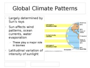 Global Climate Patterns