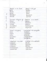 Spanish Verb Conjugation Notes