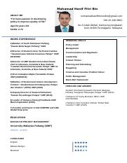 Resume Mohamad Hanif Fitri Nordin.docx