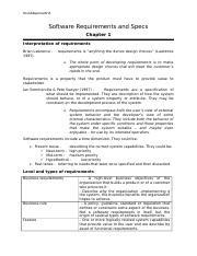 Requirements and Specs - Chapter 1.docx