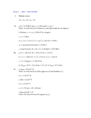 Exam 1 2003 solutions