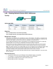 5.1.2.8 Lab - Viewing Network Device MAC Addresses