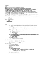 AIM 3341 Exam 3 Notes