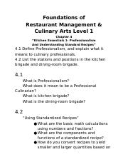 chapter 4 notes docx foundations of restaurant management culinary