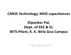 CMOS_Technology, MOS Capacitors (Topic-3).pdf