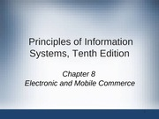 Principles of Information Systems chapter 08