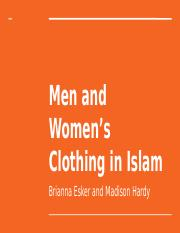 Men and Women's Clothing in Islam