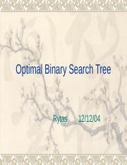 Optimal Binary Search Tree.ppt