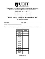 2008-04-10 - ENGR2450 - Mock Final Exam