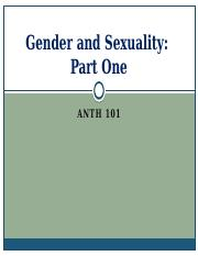 ANTH 101 Ch 11 Gender and Sexuality