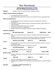 entry level actuary resume template entry level actuary resume