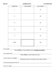 Exam _1 MCB 102 F09 copy
