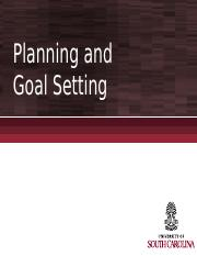 Chapter 7 - Planning and Goal Setting