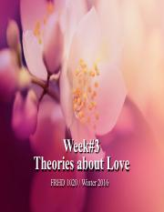 W3 Theories About Love