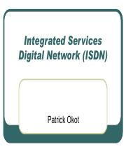 83 26Jan19 Network Service - Integrated services digital network (ISDN).pdf
