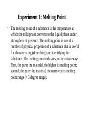Lab 1-Melting point