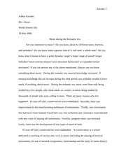 Music in Romantic Era Essay