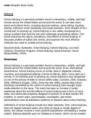 Bullying Research Paper Starter - eNotes