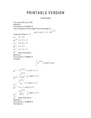 Calculus II_Final