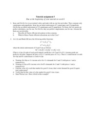 Tutorial assignment 5