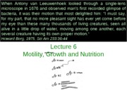 Lecture 6 Motilityb