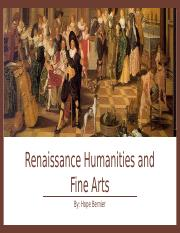 Renaissance Humanities and Fine Arts.pptx