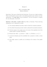 Exam 3 questions