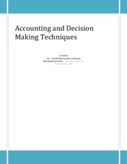 Accounting and Decision Making Techniques - Tax, Risk, Short Term Finance, bank overdraft etc