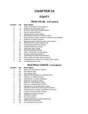 test bank IFRS of chapter 15 equity