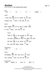 Hosanna - SongSelect Chord Chart in E - Hosanna Words and