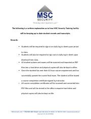 MSCRecord keeping.docx