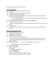 Chapter Five Computer Science 1026 Notes.docx
