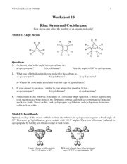 Ring Strain and Cyclohexane - WS 10