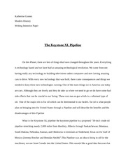 Environmental writing exercise:  keystone Pipeline Paper (1)