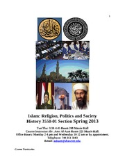 Syllabus Islam Religion, Culture and Society, Spring 2013