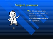 Cap1-Subject pronouns