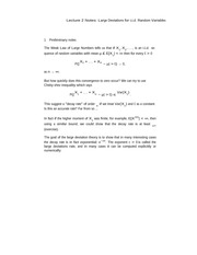 Lecture 2 Notes Large Deviations for i.i.d. Random Variables
