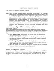 The Basics of Electronic Payment Systems.doc