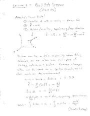 Lecture 3 Notes - Dynamics