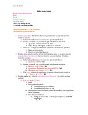 Psychology IB test review- BLOA Study Guide