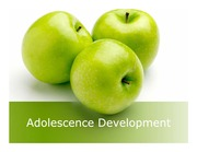 Adolescence - Development