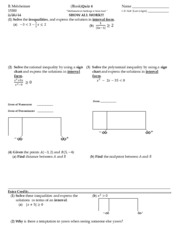 Inequalities Quiz