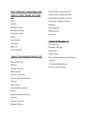 PSYC 2301 Exam 3 Study Guide